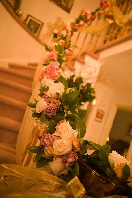 banisters flowers 24 best images about railing wedding decour on pinterest