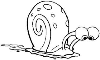 gary the snail coloring page coloring home