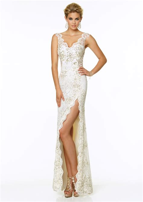 Floor Length Sleeveless Lace Dress   Best Gowns And