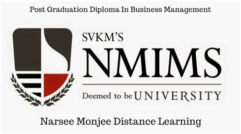 Narsee Monjee Distance Learning Mba by Scope Of Nmims Pgd Business Management Distance Education