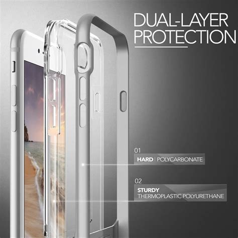 Verus Bumper For Iphone 7 Light Silver Perak husa iphone 7 plus originala verus bumper light silver