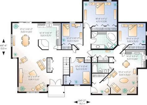 house plans for two families multigenerational house plans smalltowndjs com