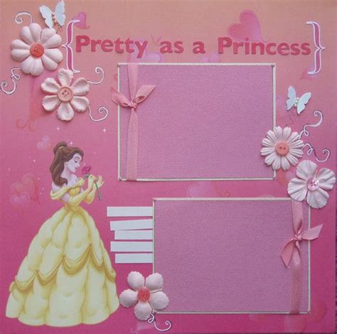 scrapbook layout princess 12x12 premade scrapbook layout featuring disney s belle