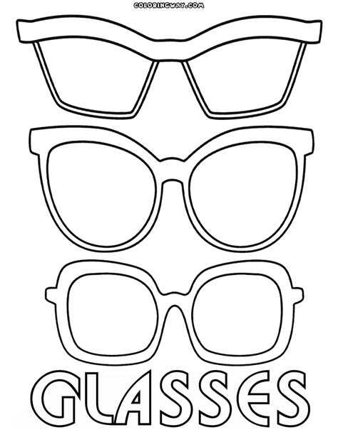 eyeglasses coloring pages eyeglasses outline pages coloring pages