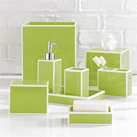 green bathroom accessories kassatex soho green bath accessories gracious style