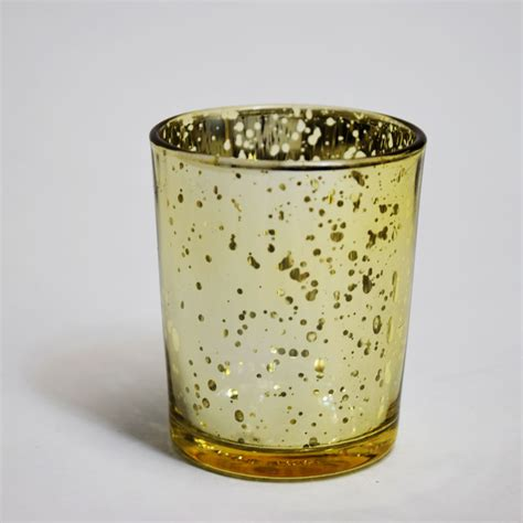Votive Candle Holder Mercury Glass Votive Tea Light Candle Holder Gold 2 5