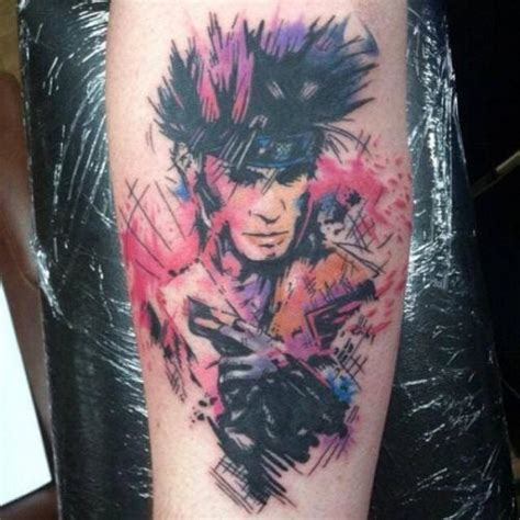 gambit tattoo 15 energetic gambit tattoos tattoodo