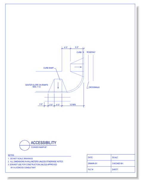 Drawing 90 Degree Autocad by Accessibility Caddetails Caddetails