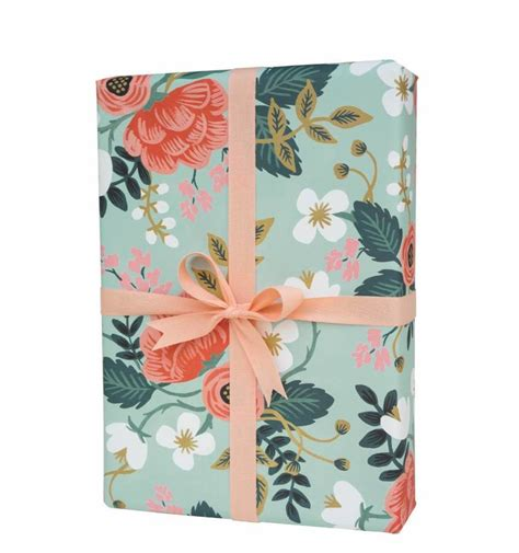gift wrapping paper floral summer bloom gift wrapping paper set of three by