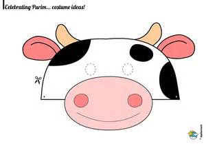 Purim Mask Template by Purim Cow Mask Traditions For Appsameach Cow
