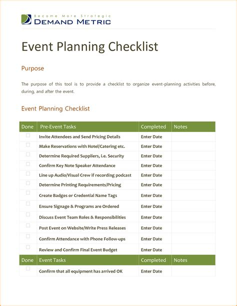 event management checklist template meeting checklist template pictures to pin on