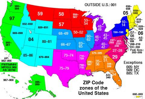 area code of us states 5 buildings so big they their own zip code