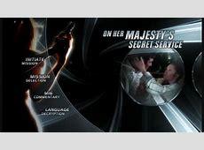 James Bond - Ultimate DVD Menus - On Her Majesty's Secret ... George Lazenby James Bond