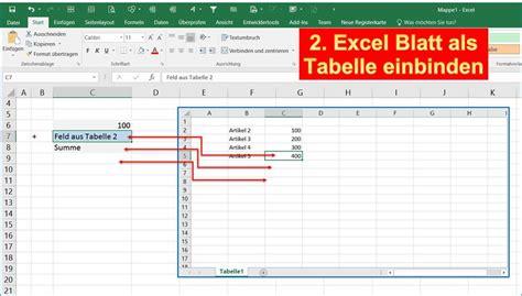Word Vorlage In Outlook Einbinden projekt idee excel untertabelle in excelblatt einbinden