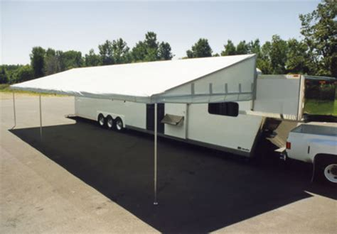 race car trailer awnings race trailer awning 28 images canada 46 triaxle race trailer w living qtrs awning