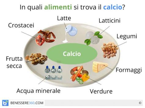 gli alimenti che contengono calcio calcio funzioni fabbisogno alimenti benefici ed