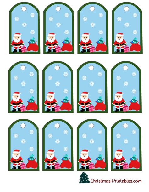 printable gift tags from father christmas free printable christmas gift tags