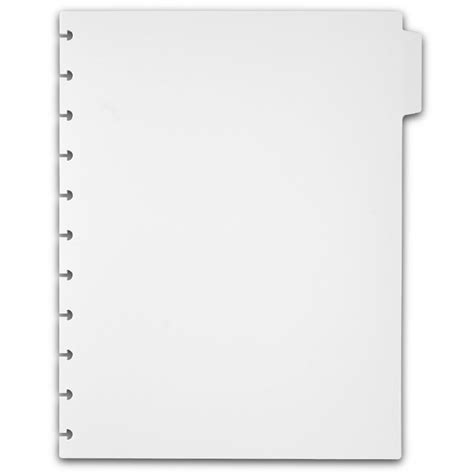 Circa Plastic Tab Dividers White Notebook Dividers Notebook Tabs Levenger Divider Tabs Template