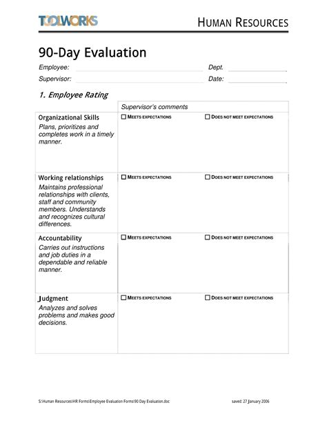 14 90 Day Review Forms Free Word Pdf Format Download 90 Day Review Template
