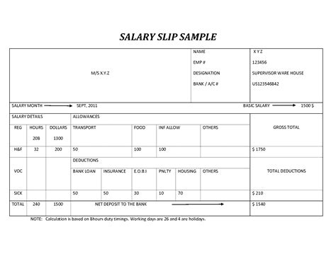 salary slip payslip in excel format projectmanagersinn