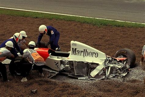 formula 4 crash michael andrettis mclaren mp4 8 ford hbd7 1993