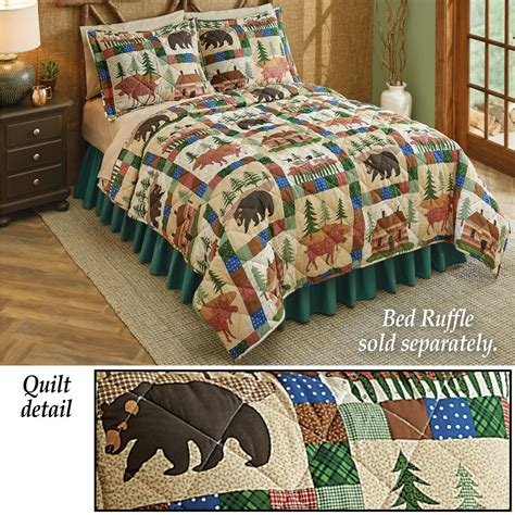 Nature Quilt by Collections Etc Greenwoods Nature Patchwork Quilt Ebay