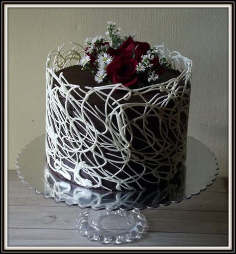 chocolate cake decorations lace cake cakecentral