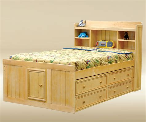 full size captain bed full size natural wood finish captains bed with storage