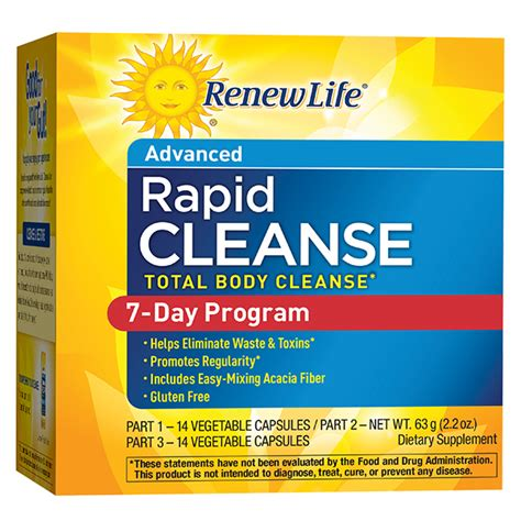 2 Day Detox Plan Health Aide by 7 Day Cleanse Total Rapid Cleanse Renew
