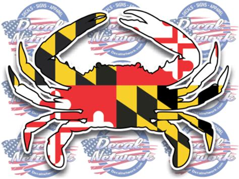 Auto Decal Installation In Maryland maryland blue crab vinyl decal sticker for car truck suv