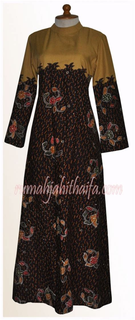 4 gamis batik order dari ibu yuyun s di kalimantan rumah jahit haifa
