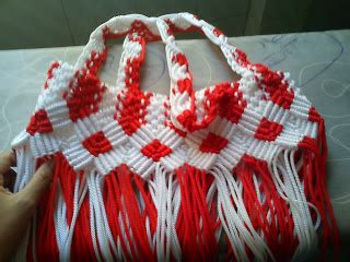 cara membuat tas tali kur 2 warna membuat tas dari tali kur step by step terlengkap