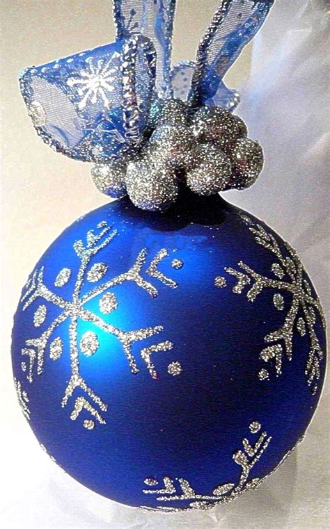 blue glass ornaments snowflake blue glass ornament