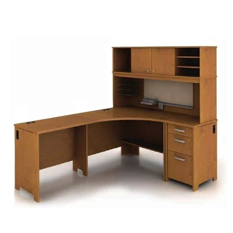 Bush Envoy Corner Desk Bush Envoy L Shaped Cherry Computer Desk Ebay
