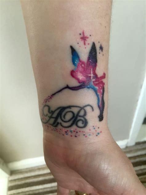 tinkerbell wrist tattoo tinkerbell wrist galaxy tattoos