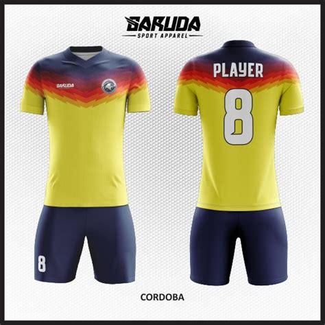 desain kaos futsal warna kuning desain kaos futsal custom cordoba warna kuning garuda