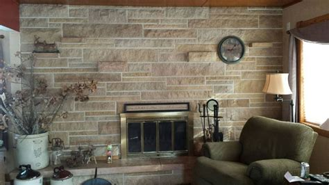 hometalk updating a stone fireplace wall