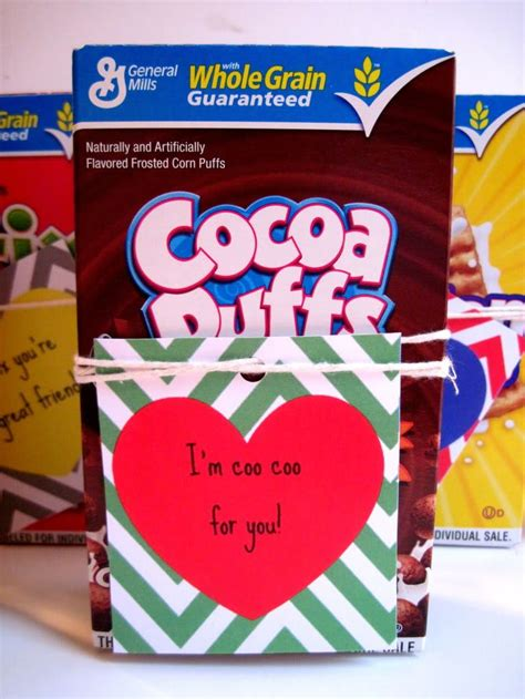 cereal box valentines cereal valentines s day