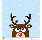 Tarjeta De Navidad Del Reno Vector Con El Backgroun