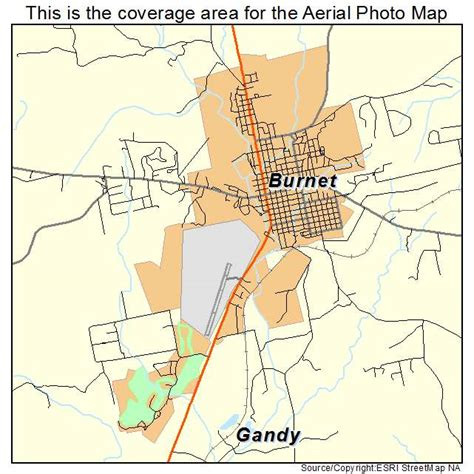 map of burnet texas landsat
