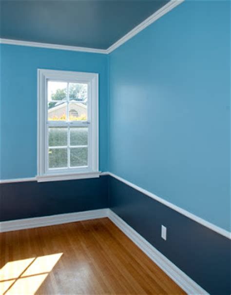 the blue color in wall paint