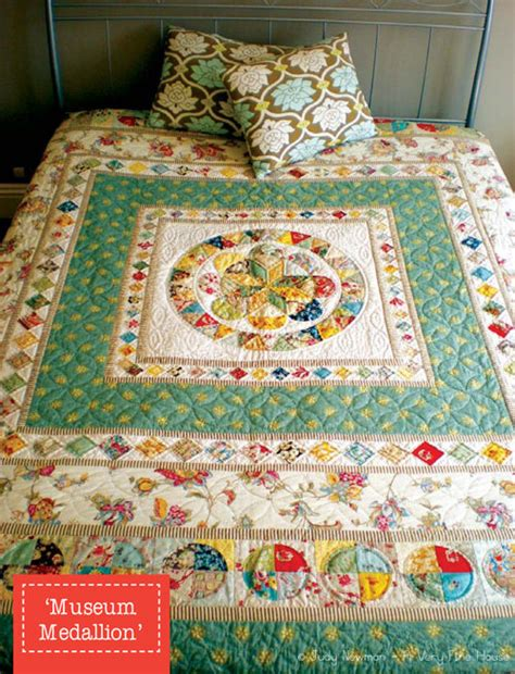 Patchwork On Central - museum medallion quilt 1 4 inch seam 6 pieces for