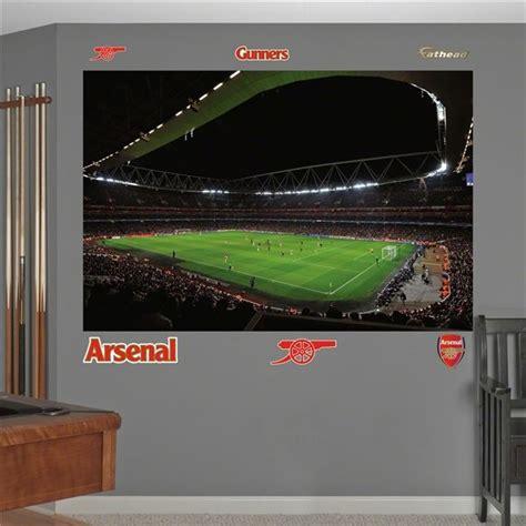 Bedroom Wall Ideas Arsenal Emirates Stadium Mural Fathead Boys Bedroom