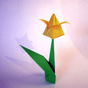 Tulip Flower Origami - origamiclub diagrams basic