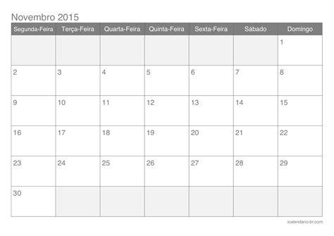 Calendario Novembro Calend 225 Novembro 2015 187 Nağberr