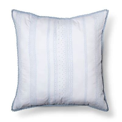 white embroidered euro throw pillow 26 quot x26 quot simply
