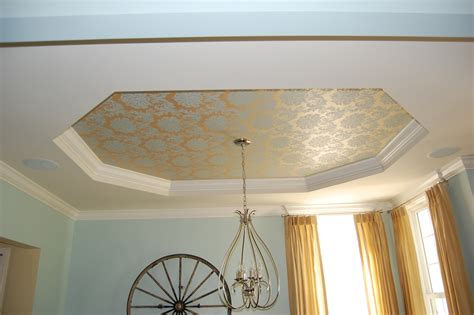 How To Paint From Ceiling by Painting A Tray Ceiling