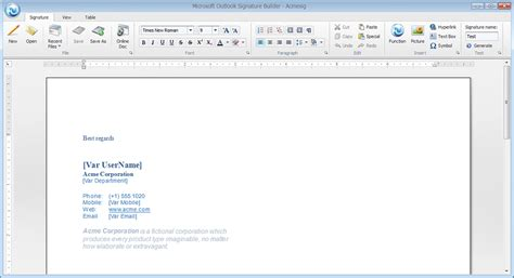 email signature template outlook templates signature outlook free programs utilities and