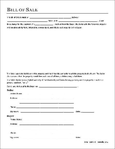 bill of sale sle template bill of sale form pdf