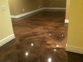 epoxy basement floor bringing life to a hitherto forgotten dingy room